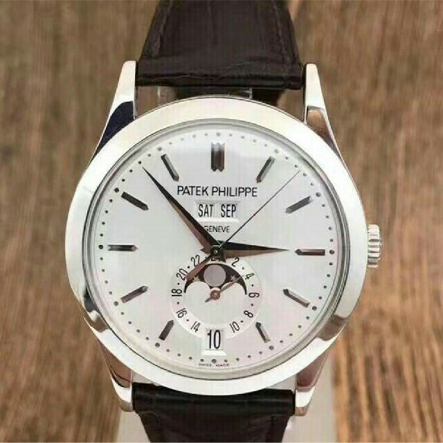 PATEK PHILIPPE - パテック フィリップホワイト文字盤 メンズ 腕時計PATEK PHILIPPEの通販 by kql972 's shop|パテックフィリップならラクマ