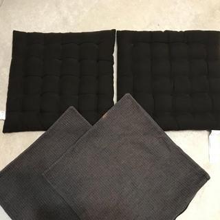ムジルシリョウヒン(MUJI (無印良品))の無印良品 座布団 座布団カバー 2組セット(クッション)