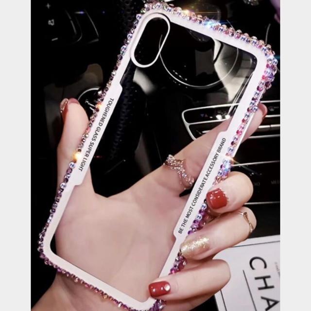 新品 iPhone XRケース ビジューケース ホワイト スマホ セレブの通販 by すみれっ☆'s shop|ラクマ