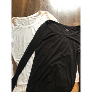 ギャップ(GAP)のGAPヒートテック白黒2枚セット(アンダーシャツ/防寒インナー)