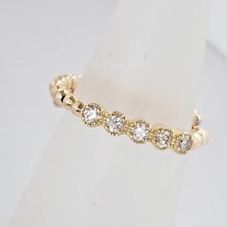K18 フリーサイズ ダイヤモンド リング(リング(指輪))