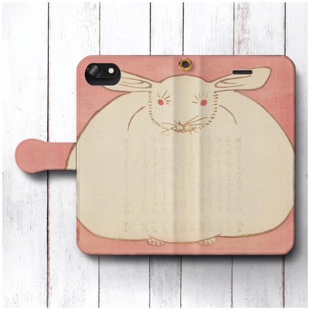 iphone 8 ケース ワンポイント | スマホケース手帳型 うさぎ レトロ 全機種対応 浮世絵の通販 by NatureMate's shop|ラクマ