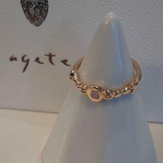 アガット(agete)のアガット オパール ダイヤモンド リング K10 5号 ピンキー 美品(リング(指輪))
