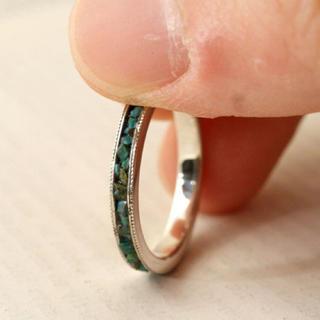 チャコールグリーン リング silver925(リング(指輪))