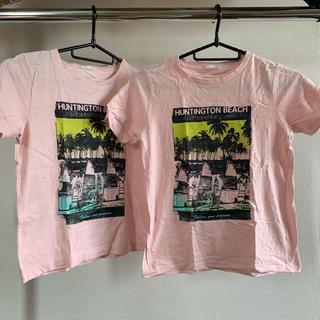 ジーユー(GU)のジーユー!ビーチTシャツ 2枚組 130(Tシャツ/カットソー)