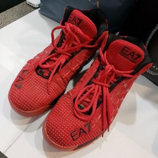エンポリオアルマーニ(Emporio Armani)のEMPORIO ARMANIレッド靴29㎝ 赤EA7(スニーカー)