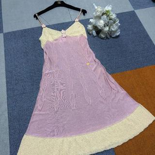 49e0272ced7e シャネル(CHANEL)の美品 シャネル ランウェイ 可愛いベビーピンク ワンピース ♡(ひざ
