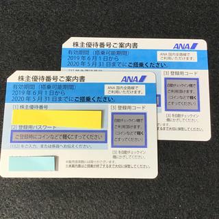 ANA株主優待券 最新券 2枚 2019年6月1日〜2020年5月31日(その他)