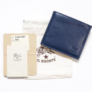 243dd3900616 イルビゾンテ(IL BISONTE)の新品 正規品 イルビゾンテ 二つ折り 財布 ネイビー ブランド ロゴ