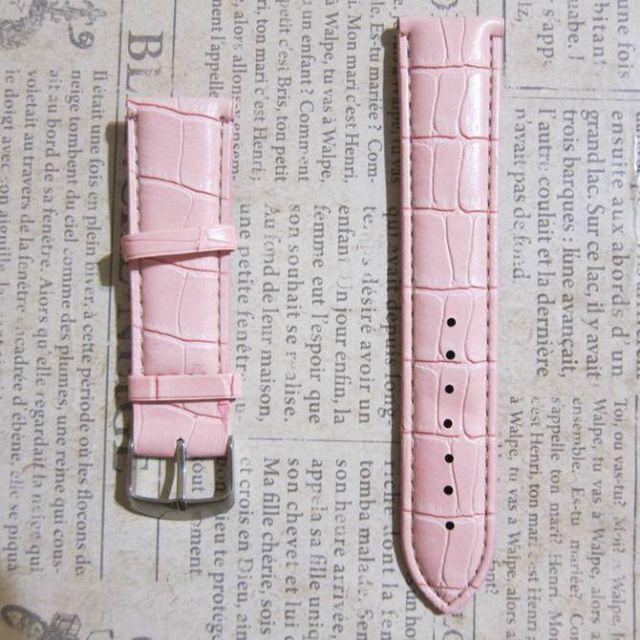 幅22mm 桃色 腕時計ベルト 送料無料の通販 by お宝探し舟's shop|ラクマ