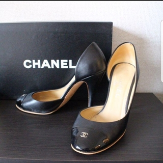 5fee401ad33c シャネル(CHANEL)のCHANEL シャネル パンプス 黒 ブラック 百貨店 内 ブティック購入(ハイヒール