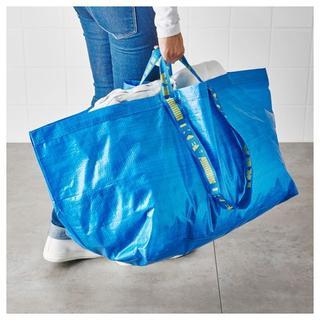 イケア(IKEA)のIKEAエコバッグ、ショッピングバッグ、ランドリーバッグLサイズ1枚(ショップ袋)