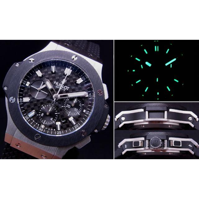 HUBLOT - H製 BIG SS 4100 Black Dial 自動巻 bar の通販 by ffr1234512345's shop|ウブロならラクマ