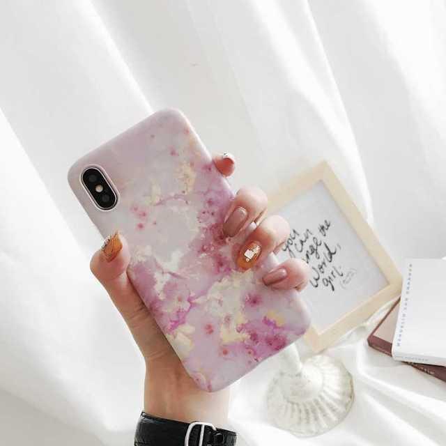 iPhone XR 大理石 ケース ピンク iPhoneXRケース XRケースの通販 by トシ's shop|ラクマ