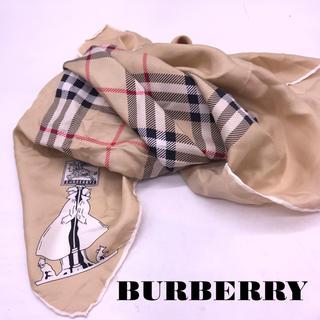 バーバリー(BURBERRY)の美品BURBERRY シルク大判スカーフ(バンダナ/スカーフ)