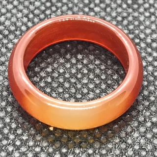 天然石 パワーストーン 瑪瑙 めのう 濃いオレンジ 13.5号 リング 台座 (リング(指輪))