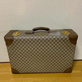 009366a426 Gucci - 希少☆GUCCI オールドグッチスーツケース 旅行鞄 茶系 早い者 ...