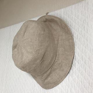 キャトルセゾン(quatre saisons)のキャトルセゾン  リネン  ハット  帽子  ナチュラル(ハット)