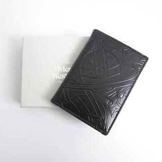 ヴィヴィアンウエストウッド(Vivienne Westwood)の未使用【ヴィヴィアンウエストウッド】カードケース レザー エンボス加工 正規品(名刺入れ/定期入れ)