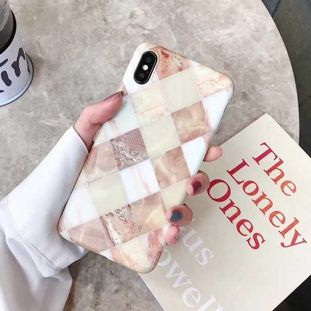 iphone6 ケース ペア おしゃれ 、 菱形模様 大理石カバー iPhone8/7 対応 ケース お洒落カバーの通販 by トシ's shop|ラクマ