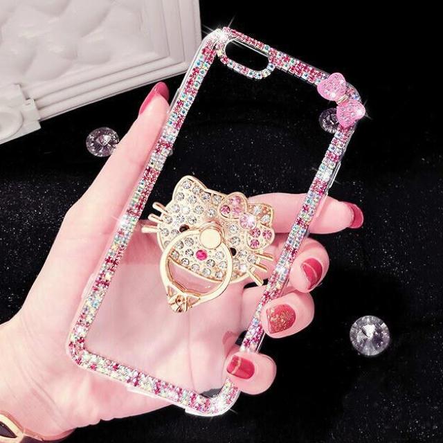 iphone x 最新 ケース - iphoneケース リング付き キティちゃんの通販 by ゆり's shop|ラクマ