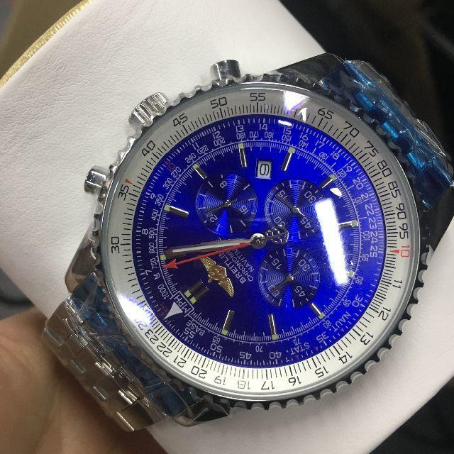 BREITLING - BREITLING ブライトリング 時計 メンズ ブルー文字盤�通販 by thomanorma's shop|ブライトリング�らラクマ