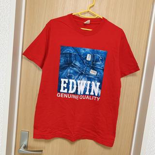 ベドウィン(BEDWIN)の[美品]EDWIN Tシャツ M メンズ 赤 エドウィン チャンピオン 半袖(Tシャツ/カットソー(半袖/袖なし))