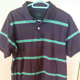 ポロシャツ ボーダー ブラック グリーン