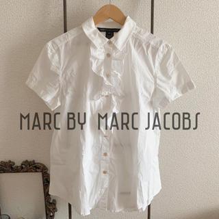 マークバイマークジェイコブス(MARC BY MARC JACOBS)の✰MARC BY  MARC JACOBS✰ 半袖白シャツ/⋆美品⋆(シャツ/ブラウス(半袖/袖なし))