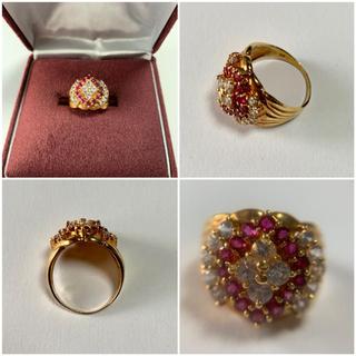 k18リング ダイヤモンド1.30  ルビー1.00 指輪 ケース付き 美品(リング(指輪))