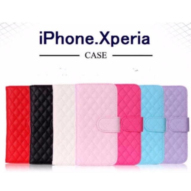 (送料無料) iPhone&xperia  対応 キルティング調の可愛い手帳型の通販 by プーさん☆|ラクマ