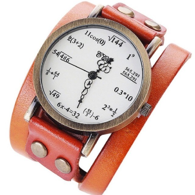 ロレックス の 偽物 / 数式腕時計 ぐるぐる ライトブラウンの通販 by よろしくお願いします's shop|ラクマ