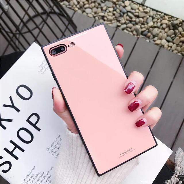 iPhoneケース スクエア型 おしゃれ ピンクの通販 by ブラウンコニー 12/28〜1/5発送休|ラクマ