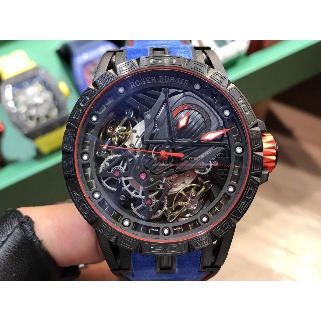 ROGER DUBUIS - ロジェデュブイ Excalibur46 手巻き腕時計 ブルー 新品 トゥルビロンの通販 by xsw16's shop|ロジェデュブイならラクマ