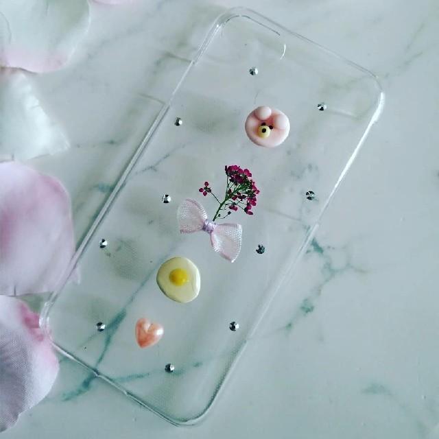 iphone7 ケース ディズニー プリンセス - iPhoneケース ハンドメイド ピンクのクマちゃんとアリッサムの押し花の通販 by RSI's shop|ラクマ