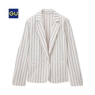 GU - GUリネンブレンドテーラードジャケット