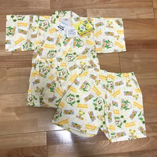 ニシマツヤ(西松屋)の新品 甚平 ワンワン 90cm お祭り 夏祭り いないいないばあ ユニクロ (甚平/浴衣)