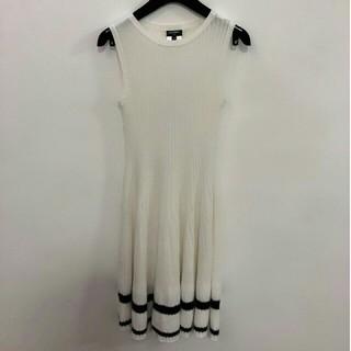 fd25c3d86bbc シャネル(CHANEL)のChanel シャネル ワンピース ドレス 袖無し ホワイトS ニット(ひざ