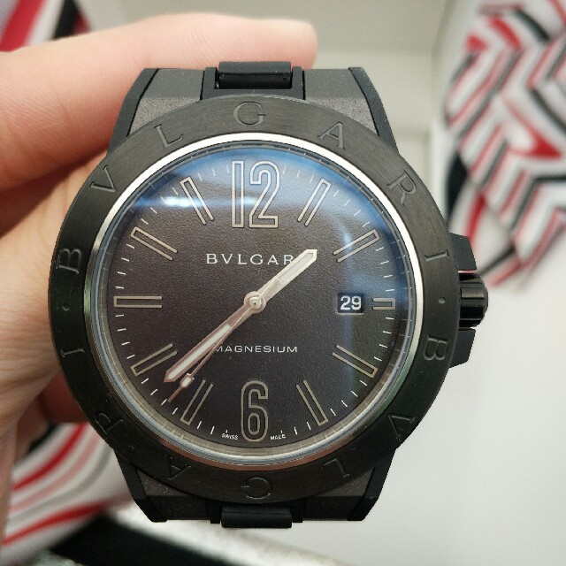BVLGARI - BVLGARI ブルガリ オクトローマ メンズ 腕時計 黒文字盤 の通販 by フミオ's shop|ブルガリならラクマ