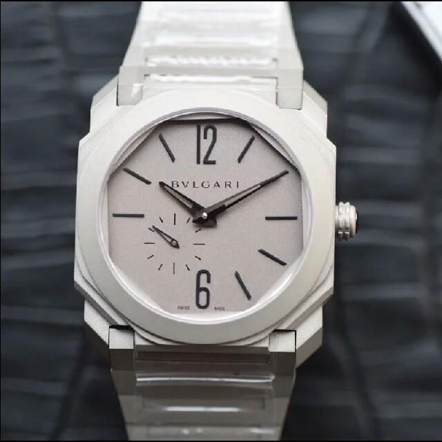 BVLGARI - ブルガリ オクト BG041S 裏スケ 自動巻ホワイトメンズ 腕時計の通販 by フミオ's shop|ブルガリならラクマ