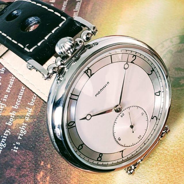 OMEGA - 旧ソ連 モルニヤ 1980's 懐中時計 コンバート 裏スケ メンズ 腕時計の通販 by ベルデア's shop|オメガならラクマ