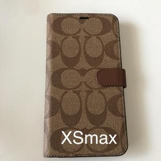 b5663dba8f4e コーチ(COACH)のcoach iPhone XSmax 手帳型ケース シグネチャー柄(iPhoneケース