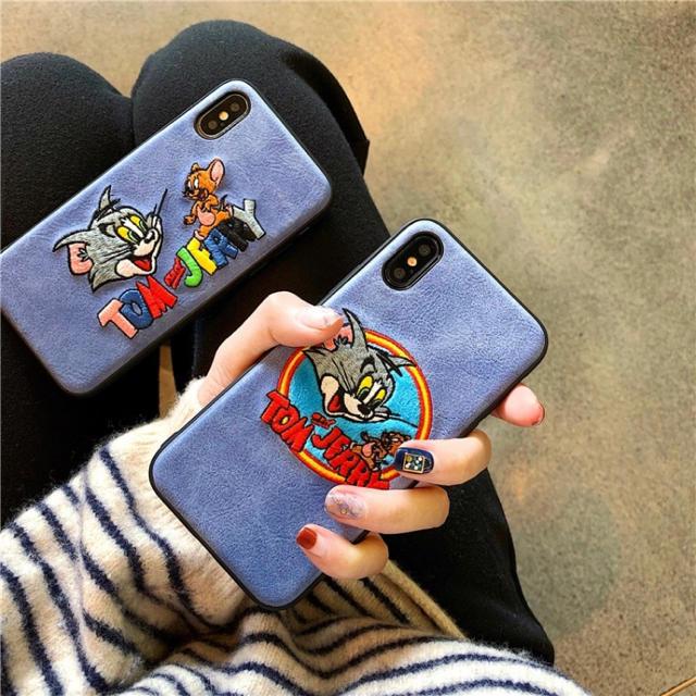 【新品】トムとジェリー iPhoneカバー 刺繍の通販 by キラさん|ラクマ