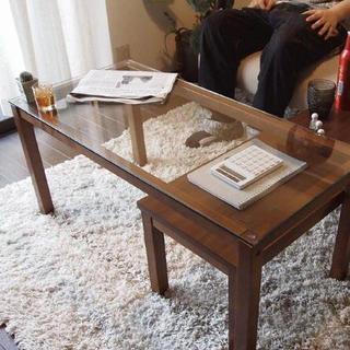送料無料♪ウォールナットネストテーブル(ローテーブル)
