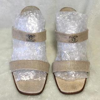 シャネル(CHANEL)の【正規品】 CHANEL シャネル 靴 サンダル ミュール(ミュール)