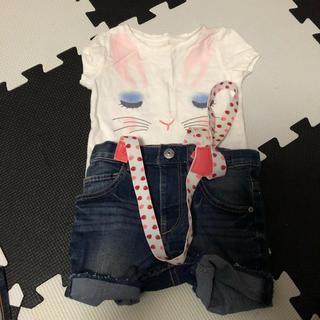 ベビーギャップ(babyGAP)のH&Mサロペット Baby GAPTシャツ 80(その他)