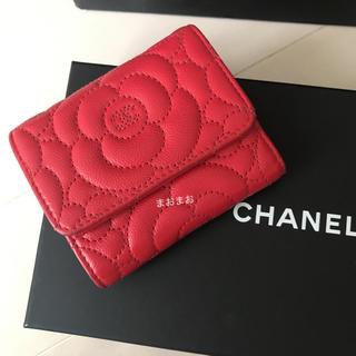 e782577a069d シャネル(CHANEL)のシャネル カメリア キャビアスキン 折財布 レッド(財布)
