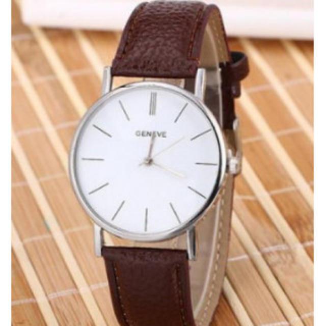 ヨーロピアンスタイル ファッション 腕時計 メンズ レディース ブラウンの通販 by トランポリン's shop|ラクマ