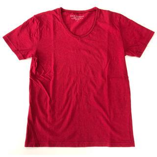バックナンバー(BACK NUMBER)のBACK NUMBER バックナンバー 赤 レッド Tシャツ 半袖 Vネック S(Tシャツ/カットソー(半袖/袖なし))