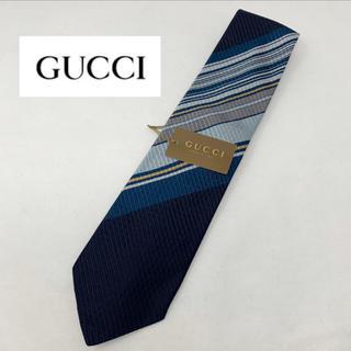9b50214b0ad8 グッチ(Gucci)の未使用☺︎GUCCI グッチ ネクタイ ストライプ ネイビー ブルー シルク(